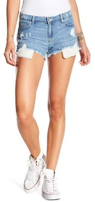 Tractr Faux Pearl Super Destructed Shorts