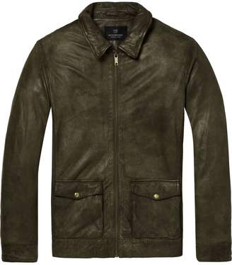 Scotch & Soda Washed Leather Jacket