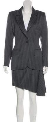 Givenchy Pinstripe Wool Skirt Suit