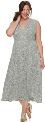 Croft & Barrow Plus Size Printed Surplice Dress