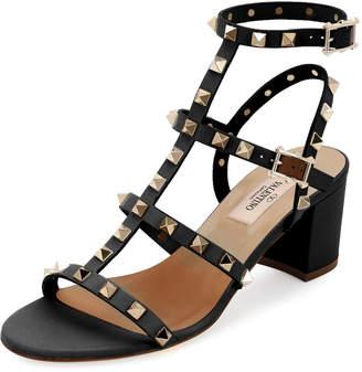 Valentino Rockstud Leather 60mm City Sandal