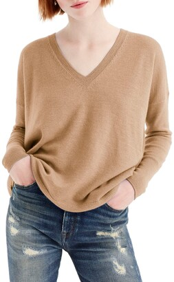 J.Crew V-Neck Boyfriend Cashmere Sweater