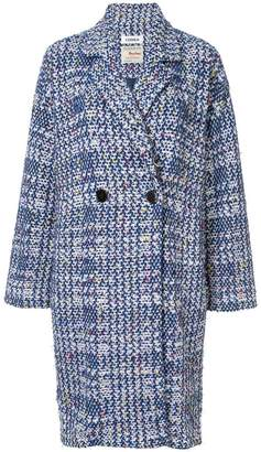 Coohem autumn check tweed coat