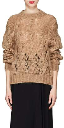 Prada Women's Cable-Knit Mohair-Blend Sweater