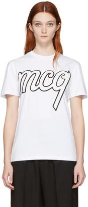 McQ Alexander Mcqueen White Classic Logo T-Shirt $220 thestylecure.com