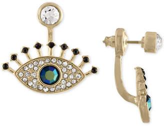 Rachel Roy Gold-Tone Multi-Stone Eye Jacket Earrings