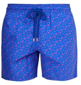 Vilebrequin Moorea Micro Turtles Print Swim Shorts - Mens - Purple Multi