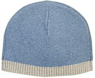 Barneys New York Kids' Stockinette-Stitched Hat - Blue