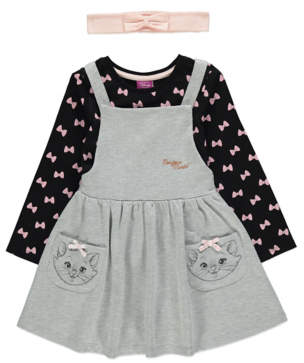 CAT Disney Aristocats Marie Pinafore, Top and Headband Outfit