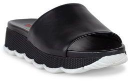 pradaPrada Leather Platform Slides