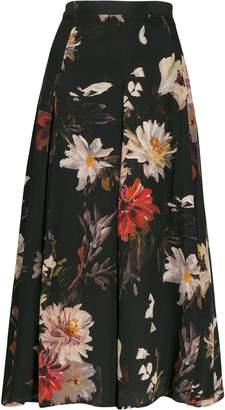 L'Autre Chose floral print flared skirt