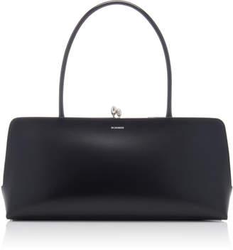 Jil Sander Goji Top-Handle Leather Frame Bag