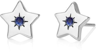 John Greed Candy Space Silver & Sapphire Star Stud Earrings
