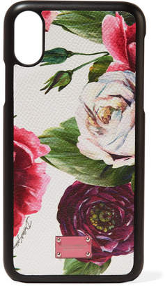 Dolce & Gabbana Floral-print Textured-leather Iphone X Case - Pink