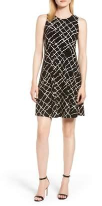 Anne Klein Greenwich Print Fit & Flare Dress