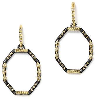 Armenta 18K Yellow Gold and Blackened Sterling Silver Old World Diamond Octagon Drop Earrings