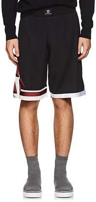 Givenchy Men's Lightning-Bolt Mesh Shorts