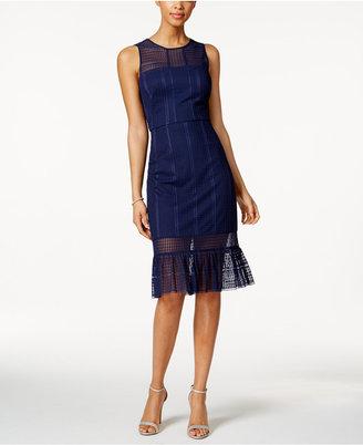 Jax Illusion Ruffle Sheath Dress $138 thestylecure.com