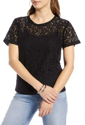 Halogen Short Sleeve Lace Tee