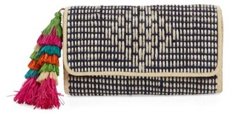 Mar Y Sol Dalia Clutch - Blue $110 thestylecure.com