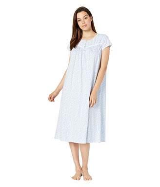 Eileen West Cotton Jersey Knit Short Sleeve Ballet Nightgown