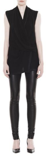 Helmut Lang Pebble Silk Wrap Top