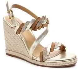 Tahari Waver Metallic Espadrille Wedge Sandals