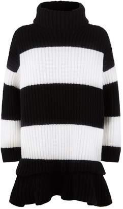 Valentino Striped Knit Oversized Sweater