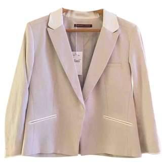 Comptoir des Cotonniers White Linen Jacket for Women