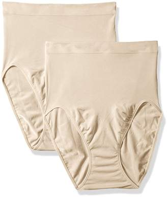 Maidenform Flexee Women's Shapewear Hi-Cut Brief 2-Pack, Beige,/12