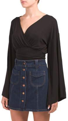 Kimono Sleeve Ballet Wrap Top