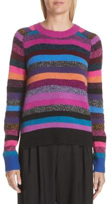 Marc Jacobs Tie Back Stripe Cashmere Sweater