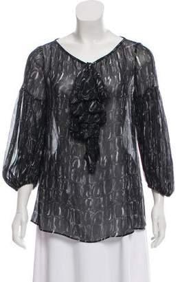 Giambattista Valli Long Sleeve Printed Blouse