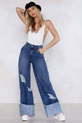 Nasty Gal Smells Like Teen Spirit Wide-Leg Jeans