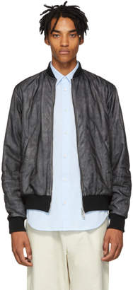 Jil Sander Black Double Zip Bomber Jacket