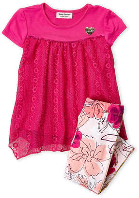 Juicy Couture Toddler Girls) Two-Piece Tunic & Floral Leggings Set