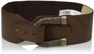 Madden Girl Women's Pull Back Stretch Belt with Chain Detail Buckle $16.90 thestylecure.com