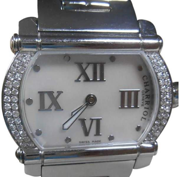 CharriolCharriol Actor Diamond Mother Of Pearl Dial Stainless Steel Womens Watch