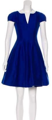 Halston Short Sleeve Mini Dress