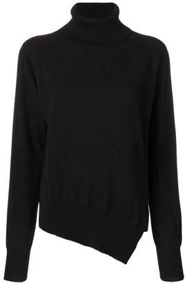 Zanone asymmetric roll neck jumper