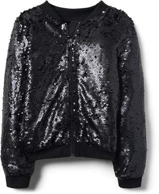 Crazy 8 Crazy8 Sequin Bomber Jacket