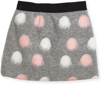 Milly Minis Pompom Modest Skirt, Size 8-16