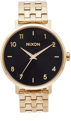Nixon The Arrow Leather Watch $200 thestylecure.com