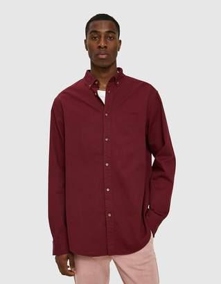 Insight Denim LS Shirt in Burgundy
