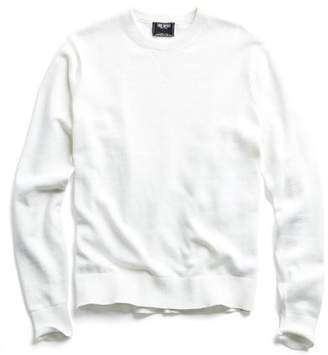 Todd Snyder Cotton Cashmere Sweater in White