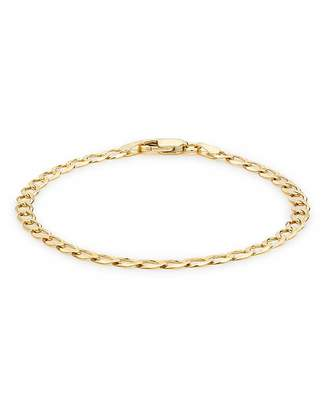 Fashion World 9ct Gold 9 inch Curb Bracelet