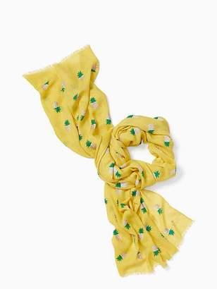Kate Spade Pineapple oblong scarf