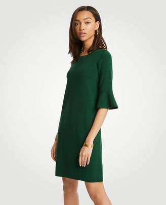 Ann Taylor Fluted Sleeve Sweater Dress