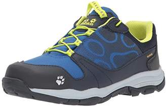 Jack Wolfskin Boys' Akka Texapore Low B Wasserdicht Rise Hiking Shoes, (Vibrant Blue), 6.5 UK