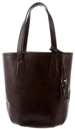 Max Mara Embossed Leather Tote